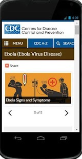 Ebola Virus Web Resources - screenshot