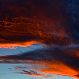 Turbulent sunset by Jp Bergeron - Landscapes Cloud Formations ( clouds, sunset, twilight, weather, dusk )