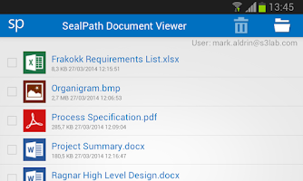 Screenshot of SealPath Document Viewer