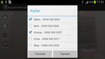 Screenshot of Bayram Mesajları