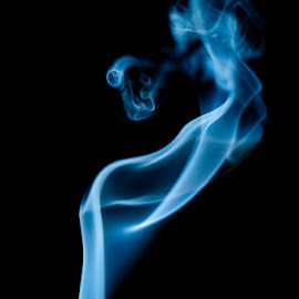 SmokeArt 1 by Ted Petrovits - Abstract Light Painting ( abstract, face, smokeart, figure, art, expermental, pointing, smoke )