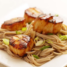 Pan Seared Scallops with Sesame Sauce and Cellophane Noodles Recipe ...