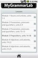 Screenshot of My Grammar Lab B1/B2