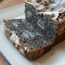 Black Sesame and Pear Tea Cake