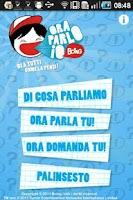 Screenshot of Ora Parlo Io