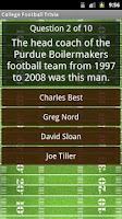 Screenshot of College Football Trivia