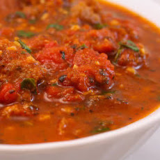 Sausage and Basil Marinara Sauce Recipe with Fresh Tomatoes