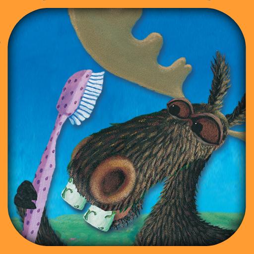 Moose brushing his teeth LOGO-APP點子
