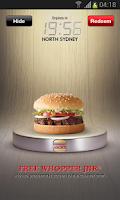 Screenshot of Hungry Jack's® Shake & Win App