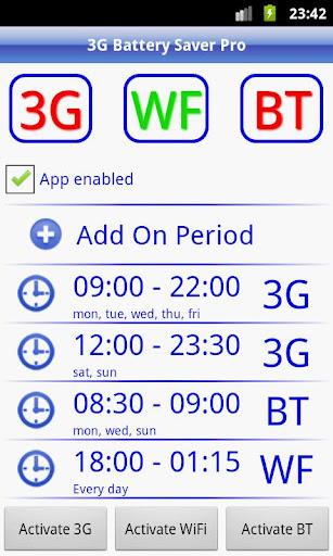 3G Battery Saver + WiFi BT