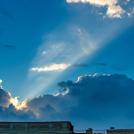 dramatic sun ray by Stefan Sarbu - City,  Street & Park  Historic Districts ( stockholm, royal, historic, sun rays )