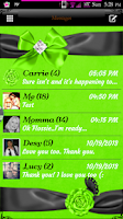 Screenshot of Simply Lime GO SMS PRO Theme