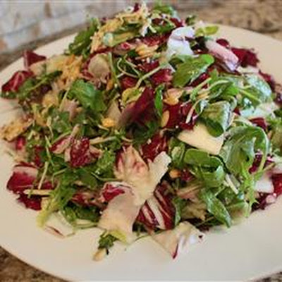 Tri-Color Chopped Salad with Pine Nuts and Parmesan Cheese