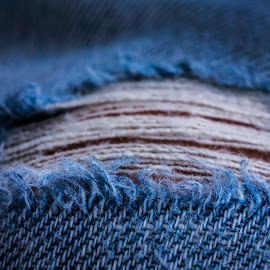 Ripped JeanZ by Nick Higer - Artistic Objects Clothing & Accessories ( jean, macro, cloth, threads, blue, clothes, thread, jeans, denim, clothe, close up, closeup )