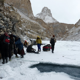 Danger Zone by Advaitaa Biswas - Landscapes Travel ( beautiful, trekking, frozen lake, ladakh, dangerous )