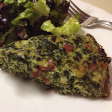 Crustless Spinach Ham and Gouda Cheese Quiche