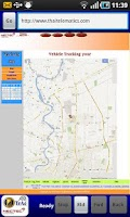 Screenshot of VehicleTracking Wap app.