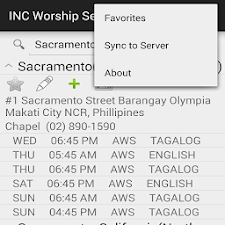 INC Worship Service Directory
