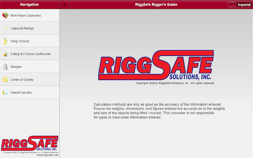Riggers Calculator
