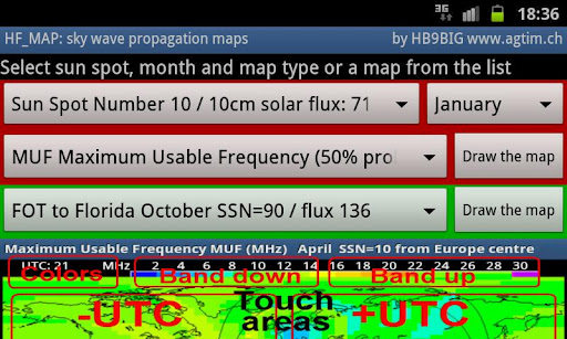 HF_MAP Sky Wave propagation