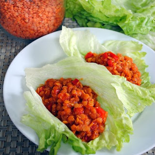 Lentil Sloppy Joe Lettuce Wraps