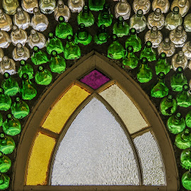 Bottle Church's Window by Tammy Drombolis - Buildings & Architecture Architectural Detail