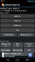 Screenshot of Ultimate Umpire Scorecard