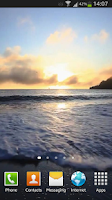 Screenshot of Ocean Waves at Sunset Live HD