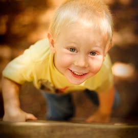 Wil on the ladder by Shane McKenzie - Babies & Children Child Portraits ( ladder, child, fun, kids, kids portrait )