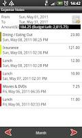 Screenshot of Expense Notes: Expense Tracker