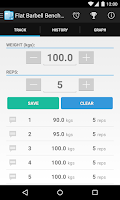 Screenshot of FitNotes - Gym Workout Log