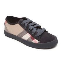 Burberry Check Leather Trainers TRAINER