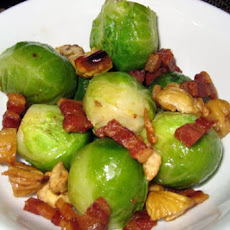 Braised Brussels Sprouts, Pearl Onions and Chestnuts