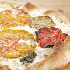 Oven-Dried Heirloom Tomato Pizza