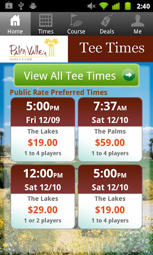 Palm Valley Tee Times