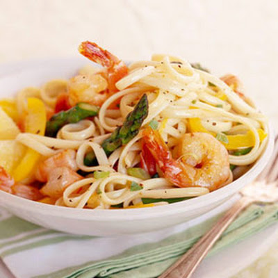 Basil-Lemon Shrimp Linguine