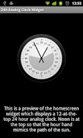 Screenshot of 24h Analog Clock Widget