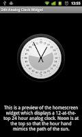Screenshot of 24h Analog Clock Widget