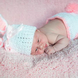 baby girl by Daniel Charlton - Babies & Children Babies ( girl, bunny, baby, cute, portrait )