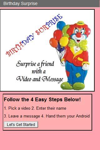 Clown Birthday Surprise