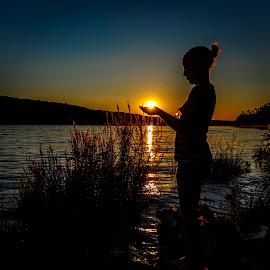 Good Night, Sun! by Olga Gerik - Landscapes Sunsets & Sunrises ( sunset, sunsets, silhouettes )