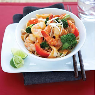 Thai Coconut Shrimp with Brown Rice Pasta