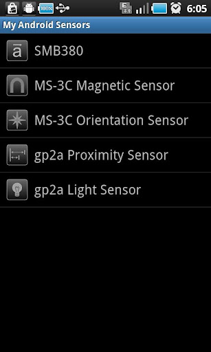 My Android Sensors