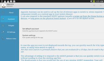 Screenshot of Apposite licence
