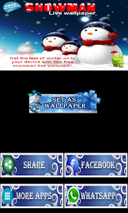 Snowman playing with Snow LWP - screenshot