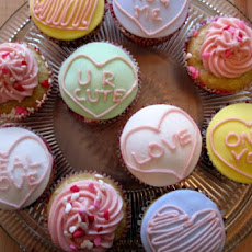 Valentine's Day Conversation Heart Cupcakes