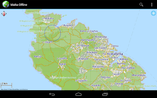 Screenshot of Offline Map Malta Gozo Comino
