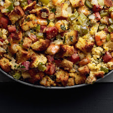 Cornbread Stuffing With Shrimp and Ham