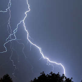 July Lightning by Robert Johnson - Landscapes Weather ( lighting bolt, lightning, nature, weather, storms )