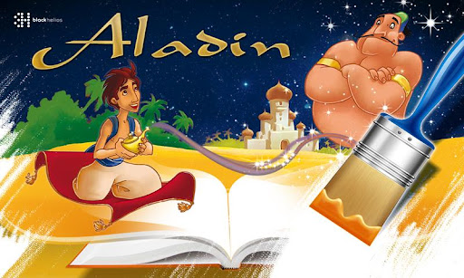 Book of colouring Aladin